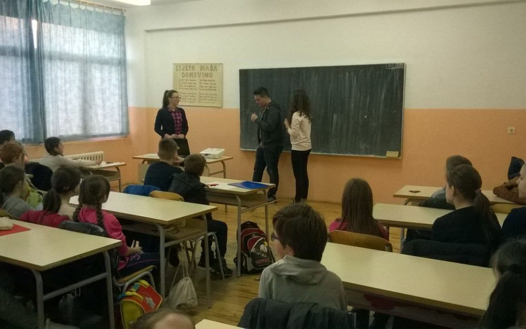 Students talked about violence prevention